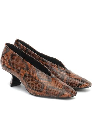 Mercedes Castillo Claudia snake-effect leather pumps