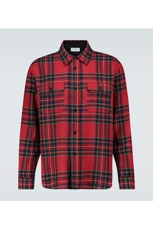 Saint Laurent Tartan flannel shirt