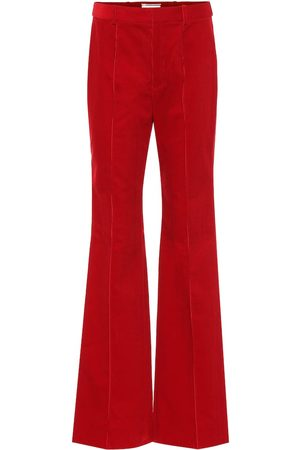 Saint Laurent High-rise corduroy flared pants