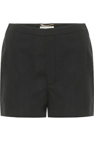 Saint Laurent High-rise virgin wool shorts