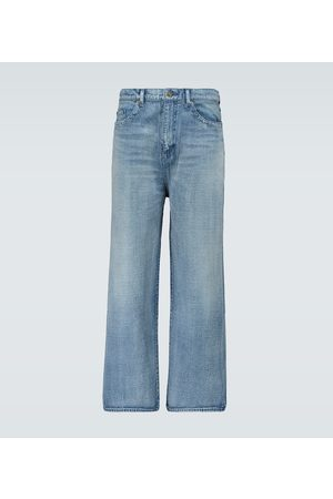 Saint Laurent Cropped straight-fit jeans