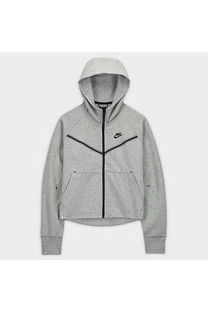 Nike Women's Sportswear Tech Fleece Windrunner Full-Zip Hoodie in Grey/Dark Grey Heather Size X-Small Cotton/Polyester/Fleece