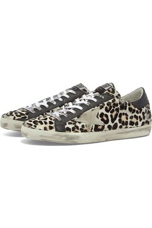 Golden Goose Superstar Leopard Horsy Leather Heel Sneaker