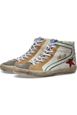 Golden Goose Slide Leather & Suede Hi Sneaker