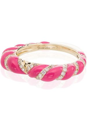 YVONNE LÉON Women Rings - 9kt , diamond and enamel ring