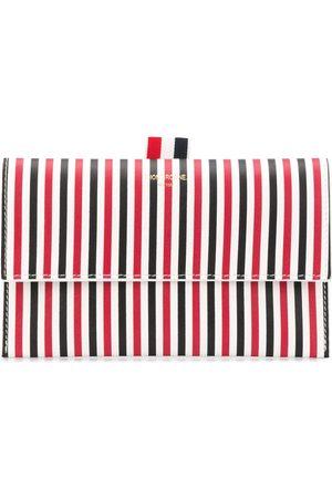 Thom Browne Women Wallets - Mini striped flap folio