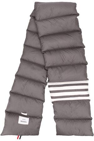 Thom Browne Down-filled 4-Bar scarf - Grey