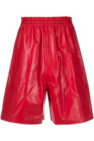 Bottega Veneta Leather knee-length shorts