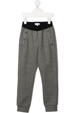 HUGO BOSS Embroidered logo track pants - Grey