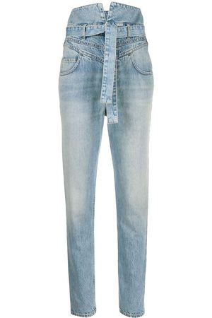 The Attico High-waist straight-leg jeans