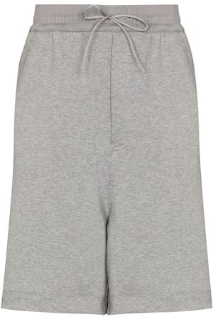 Y-3 Drawstring wide-leg track shorts - Grey