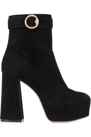 Gianvito Rossi Buckled chunky-heel ankle boots