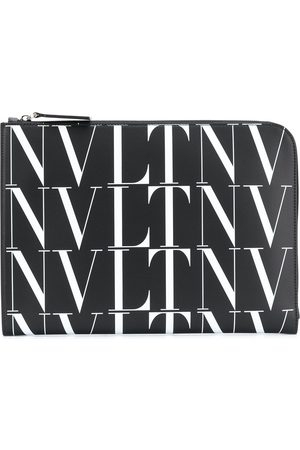 VALENTINO GARAVANI VLTN leather zip logo bag