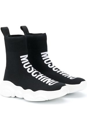 Moschino Logo print sock trainers
