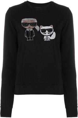 Karl Lagerfeld Ikonik rhinestone sweatshirt