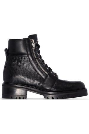 Balmain Ranger logo embossed combat boots