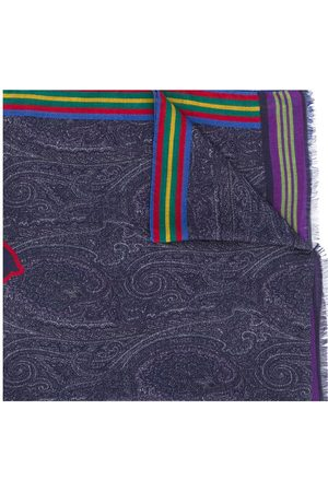 Etro Embroidered logo scarf