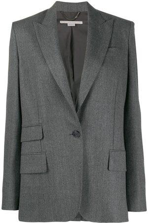Stella McCartney Pocket detail single-breasted blazer - Grey