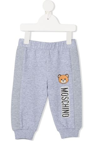 Moschino Logo-print track trousers - Grey