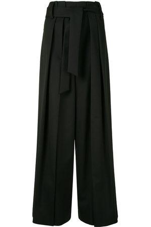 GOEN.J Paperbag wide-leg trousers