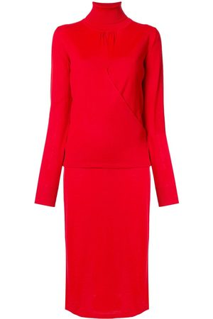 Msgm Knitted roll-neck midi dress