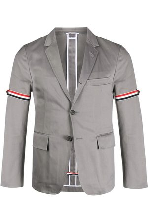 Thom Browne Unconstructed grosgrain armband sport coat - Grey