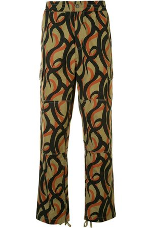 Ports V Abstract-print straight-leg trousers - Multicolour