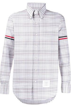 Thom Browne Armband stripe checked shirt