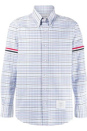 Thom Browne Oxford checkered buttoned shirt