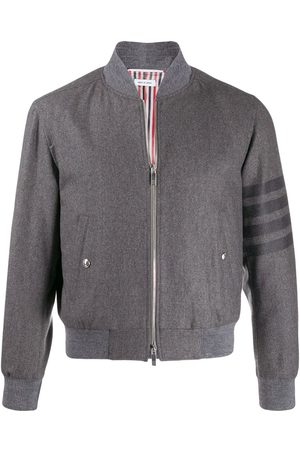 Thom Browne Knit rib 4-bar blouson jacket - Grey