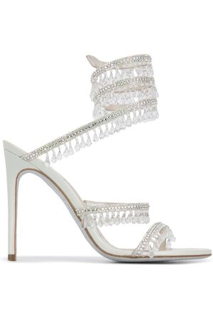 RENÉ CAOVILLA Cleo crystal-embellished sandals - Grey