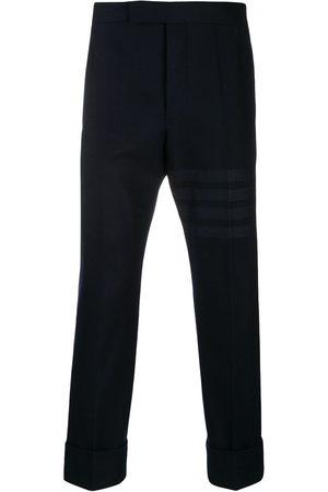 Thom Browne Men Formal Pants - Tonal 4-Bar flannel trousers