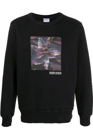 MARCELO BURLON Flower print sweatshirt