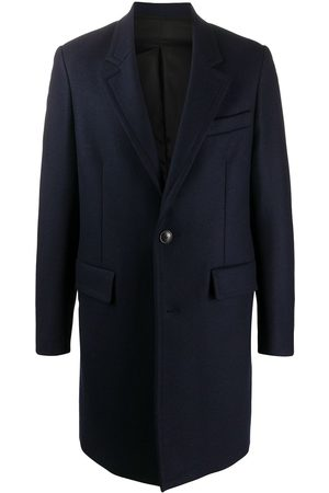 Ami Men Coats - Single-breasted mid-length coat