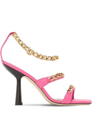 By Far 100mm Gina Leather Sandals