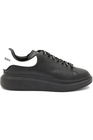 Alexander McQueen Raised-sole Low-top Leather Trainers - Mens