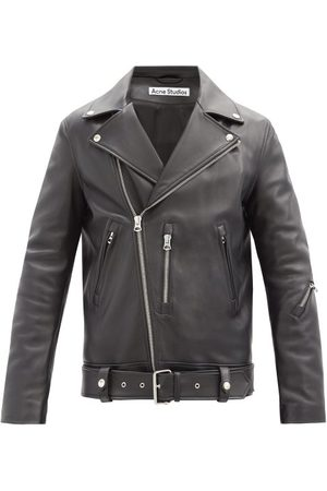 Acne Studios Nate Leather Biker Jacket - Mens