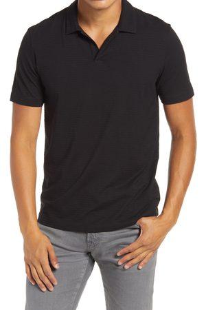 Theory Men's Willem Flame Regular Fit Short Sleeve Slub Jersey Polo