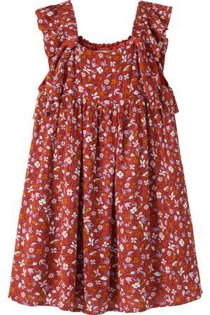 Peek Aren't You Curious Toddler Girl's Floral Print Crinkle Sundress