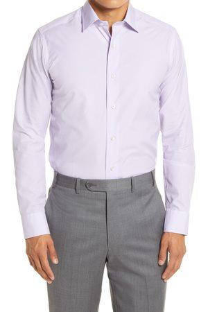 David Donahue Men's Slim Fit Geo Print Dress Shirt