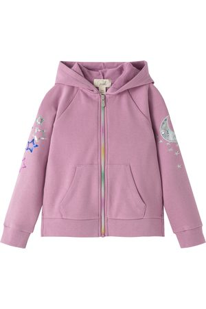 Peek Aren't You Curious Toddler Girl's Moon & Stars Sequin French Terry Hoodie