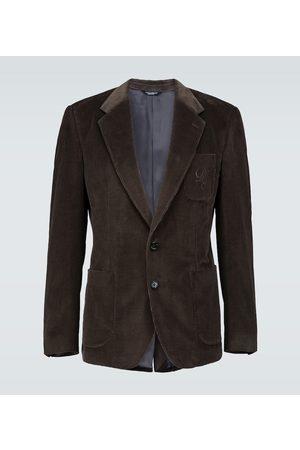 Dolce & Gabbana Corduroy blazer with logo