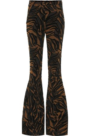 MUGLER Jacquard high-rise flared pants