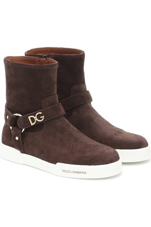 Dolce & Gabbana Girls Ankle Boots - Suede ankle boots