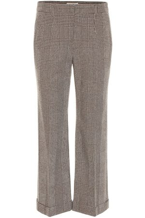 Saint Laurent Checked cropped straight pants