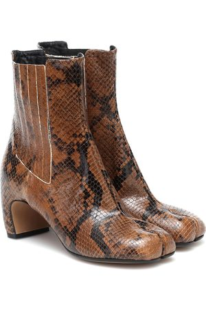 Maison Margiela Tabi snake-effect leather ankle boots
