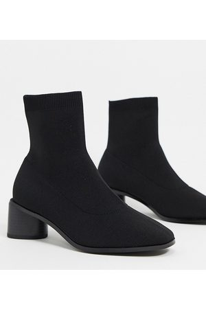 ASOS Wide Fit Radley knitted heeled sock boots in