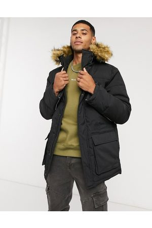 Nicce London Radian padded jacket with faux fur hood