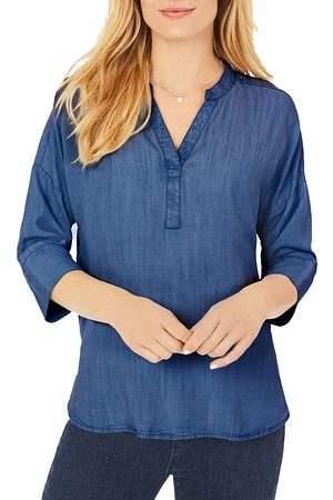 Foxcroft Women Tunics - Roman Indigo High/Low Tunic
