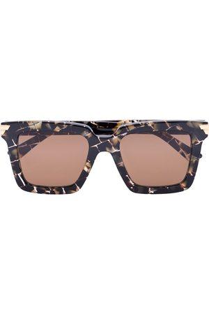Bottega Veneta Eyewear Tortoiseshell check square sunglasses
